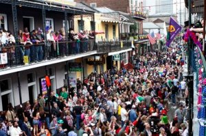 Just another regular day on Bourbon Street--(AP Photo/Jonathan Bachman)